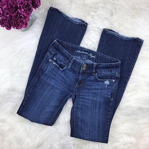 American Eagle Distressed Flare Denim Artist Jeans
